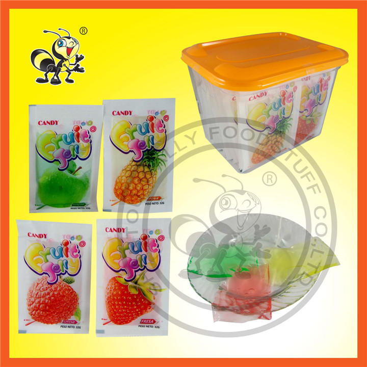 Assorted Fruit Jelly Gummy Candy Jelly
