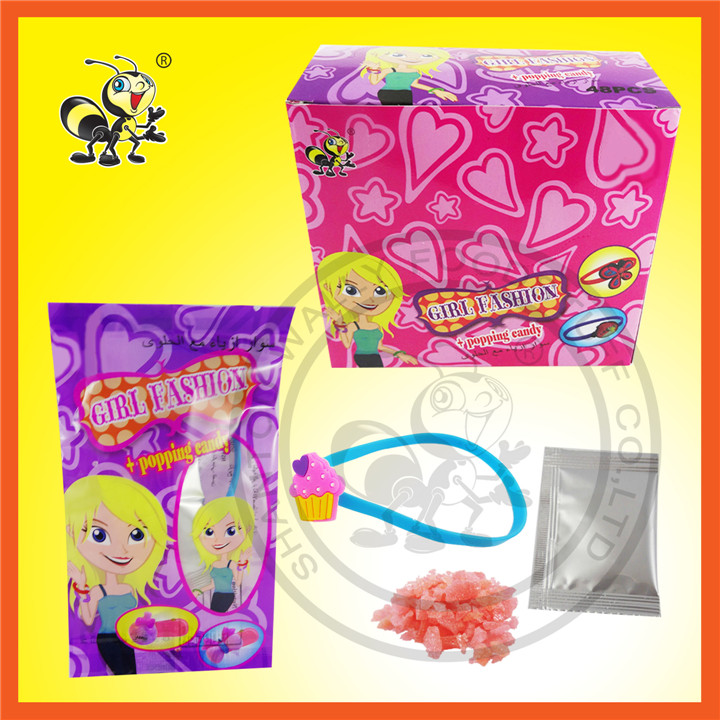 Girl Fashion With Popping Candy Surprise Candy