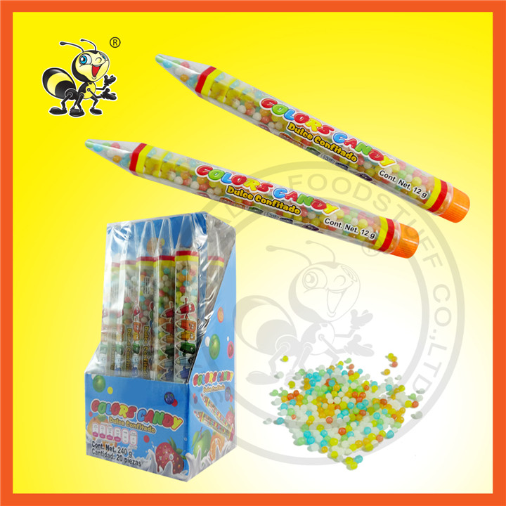 Different Color Candy Pen Shape Color Candy Toy Candy