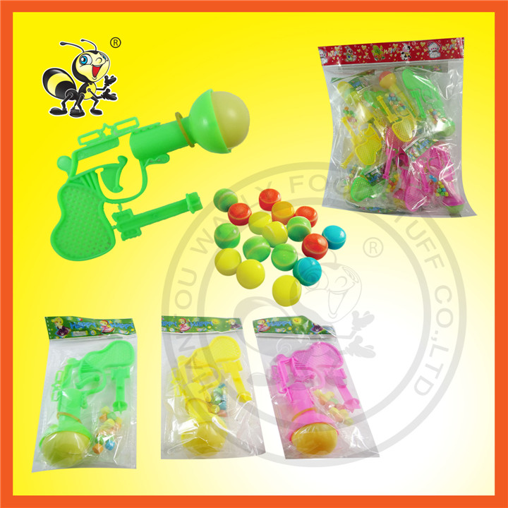 Small Toy With Gun With Compressed Candy Toy Candy
