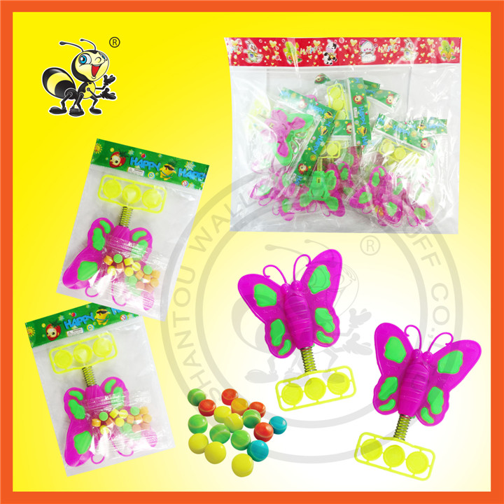Butterfly Toy With Compressed Candy Toy Candy