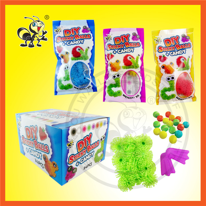 New Design DIY Sticky Ball With Compressed Candy