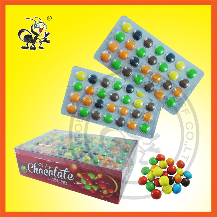 Good Taste Different Color Chocolate Bean Chocolate Candy