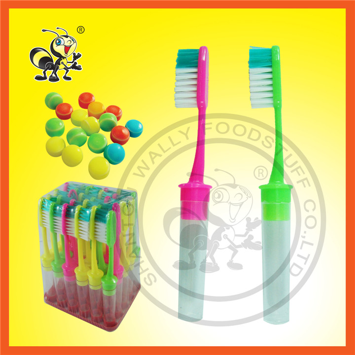 Toothbrush With Pressed Candy For Children Toy Candy