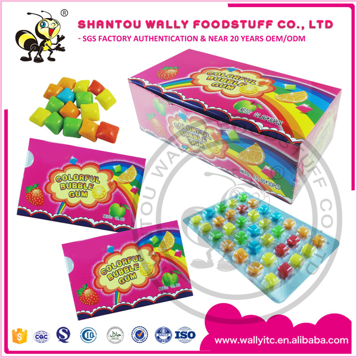 Box Packed Coloful Candy Bubble Gum