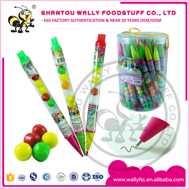 Special Smart Pen With Candy Bubble Gum Candy