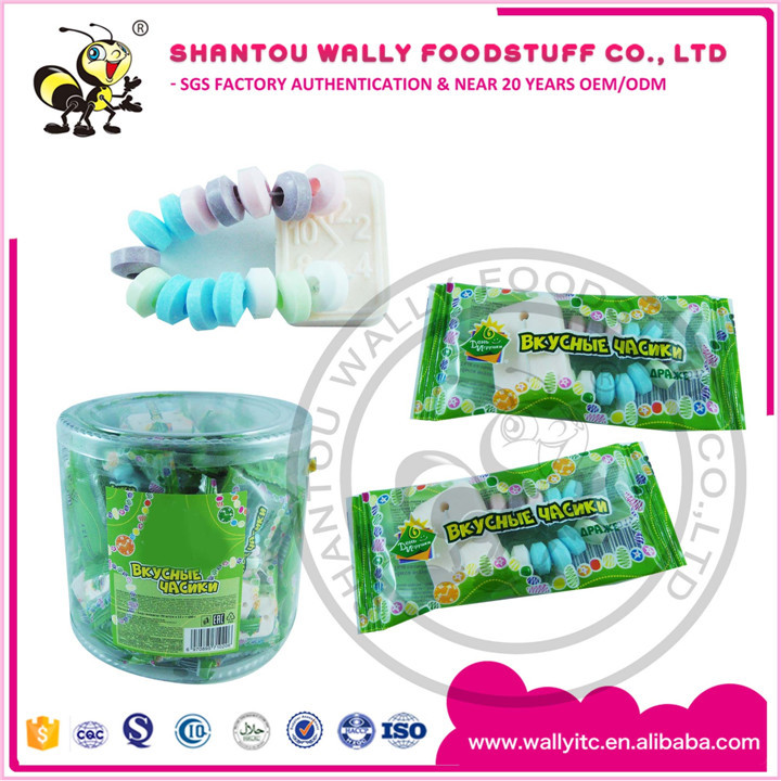 Fruity Watch Bracelet In Jar Packing Compressed Candy