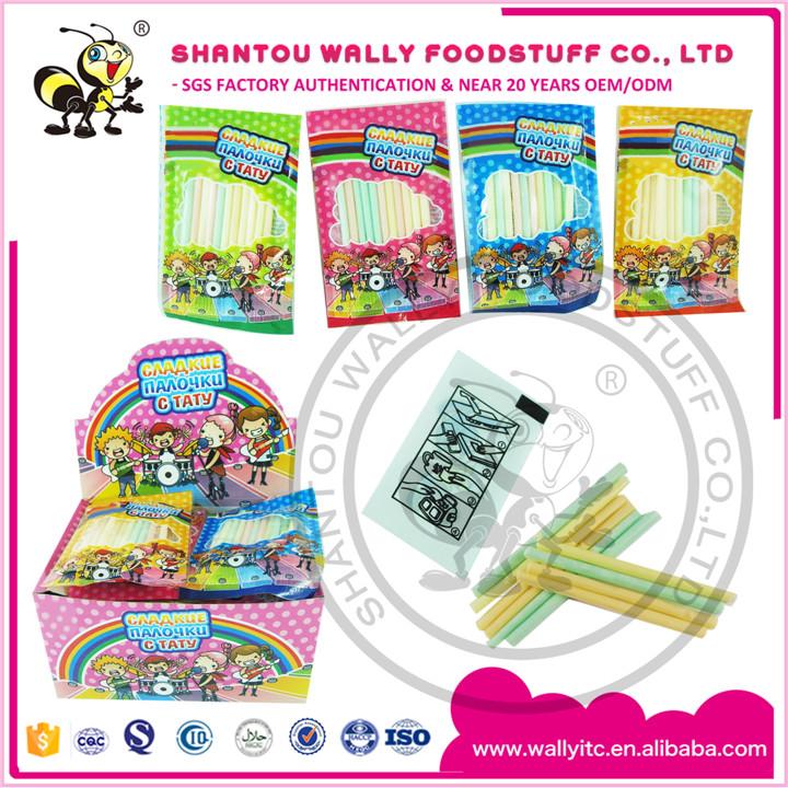 Surprise Bag Ice Cream CC Stick Candy With Cartoon Tattoo